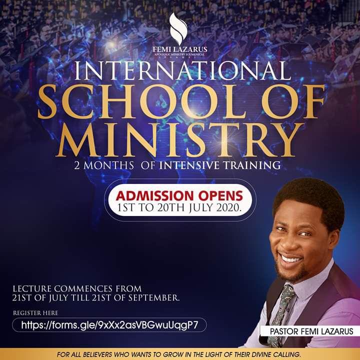 Pastor Femi Lazarus International School of Ministry